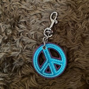 Authentic COACH Peace Sign Key Chain